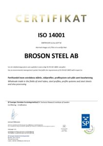 Broson Steel – Cert. ISO 14001 Steel