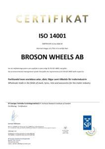 Cert. ISO 14001 Wheels