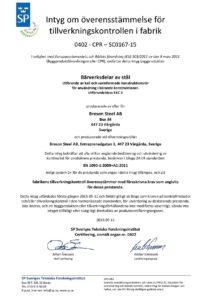 Certifikat EN 1090 2015