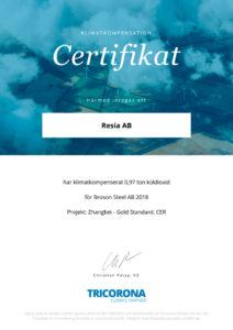 Certifikat-klimatkompensation-2018-Steel